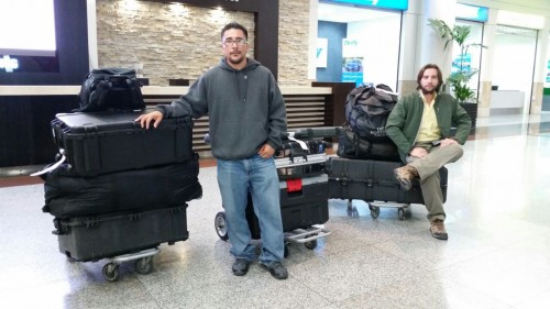 Ismael and Matt at the airport