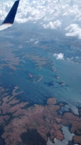 View of Panama from the plane.