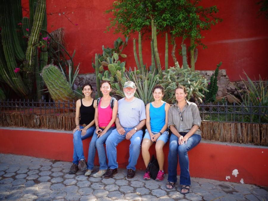 (from left to right) Paula Ezcurra, Ana Ezcurra, Exequiel Ezcurra, Lorena Villanueva, and Sula Vanderplank.