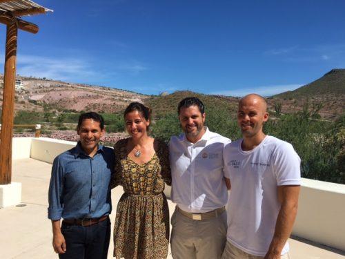Dr. Octavio Aburto with Estrella Navarro, Alejandro Del Mazo Maza, and Alexey Molchanov (left to right).